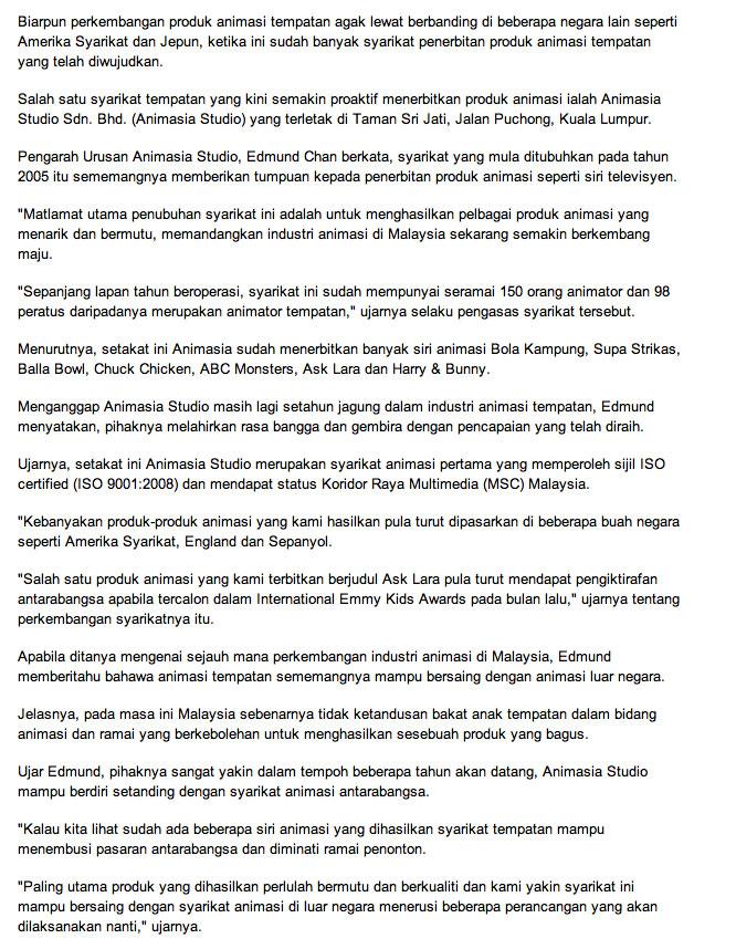 MAR 2013 Bola Kampung The Movie Kosmo 2