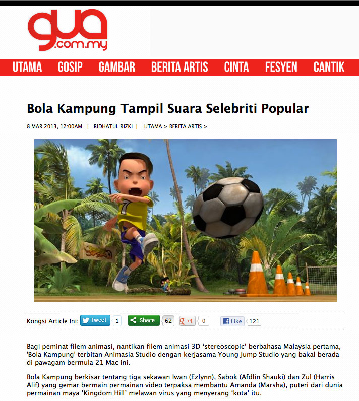 MAR 2013 Bola Kampung feature Popular Celebrity Voices 1