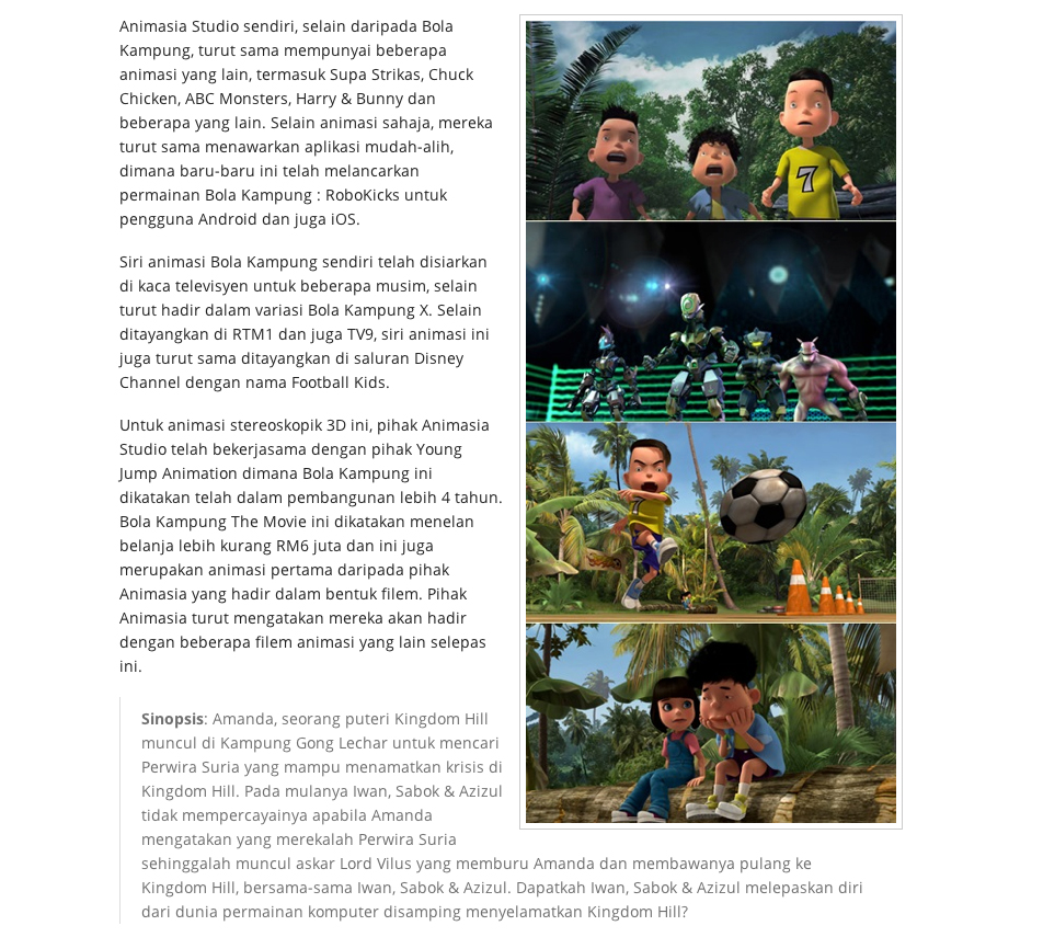 MAR 2013 Together with Animasia Studio Reviews Previews Bola Kampung The Movie 2