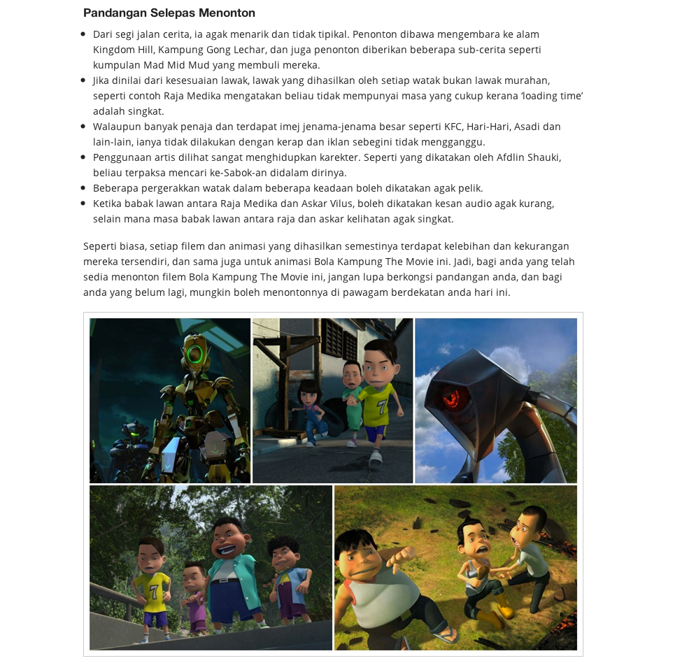 MAR 2013 Together with Animasia Studio Reviews Previews Bola Kampung The Movie 3