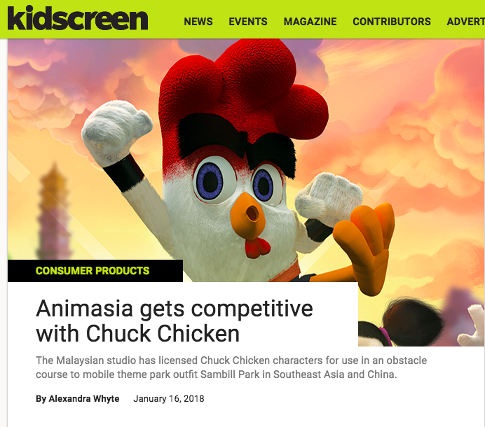 ANIMASIA GETS COMPETITIVE WITH CHUCK CHICKEN