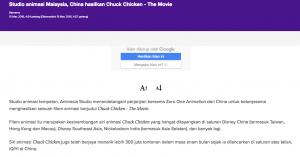 STUDIO ANIMASI MALAYSIA, CHINA HASILKAN CHUCK CHICKEN – THE MOVIE - Article